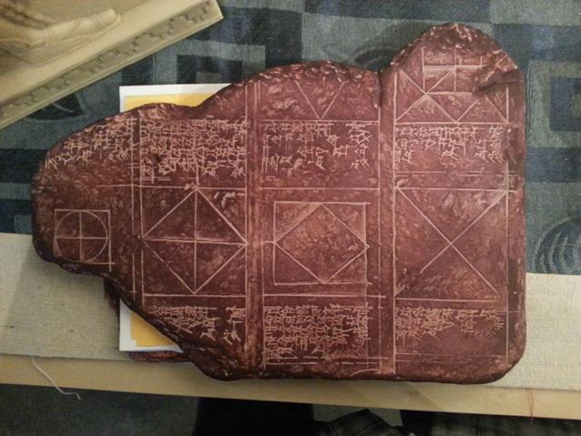 (M.Ö 1750 yılından kalma geometri bilimi kullanılmış bir Babil tableti)