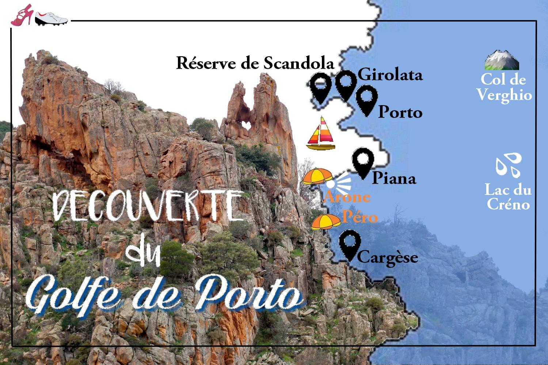 GOLFE DE PORTO CARTE ROAD TRIP CORSE BLOG VOYAGE