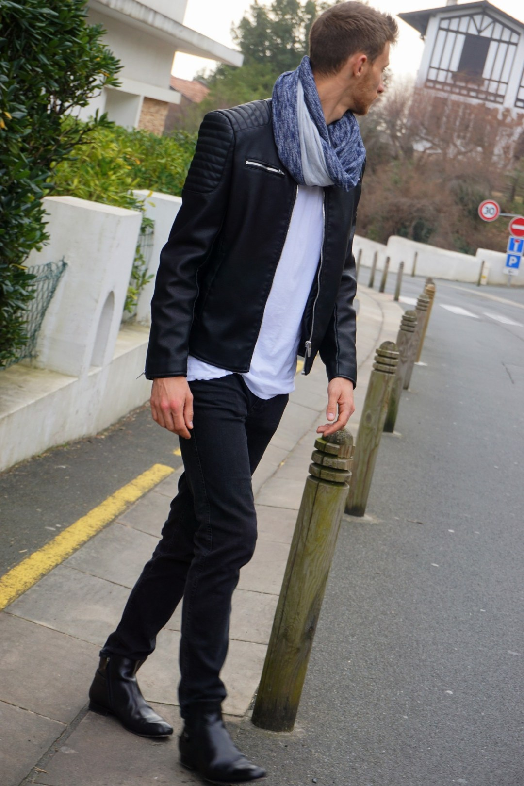 LOOK HOMME ROCK CHIC PERFECTO ZARA BLOG MODE COUPLE BORDEAUX BIDART WEEK END DANS LE PAYS BASQUE 04