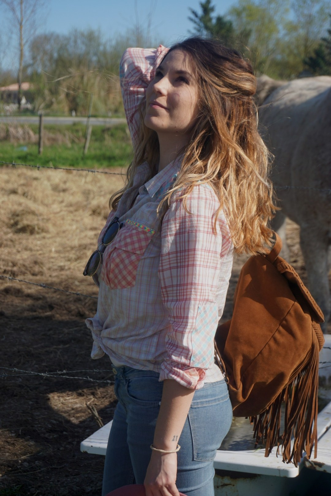 LOOK WESTERN GIRLY COW GIRL CHAPEAU ROSE BLOG MODE BORDEAUX FRANCE CORSE FASHION CENTRE EQUESTRE 06
