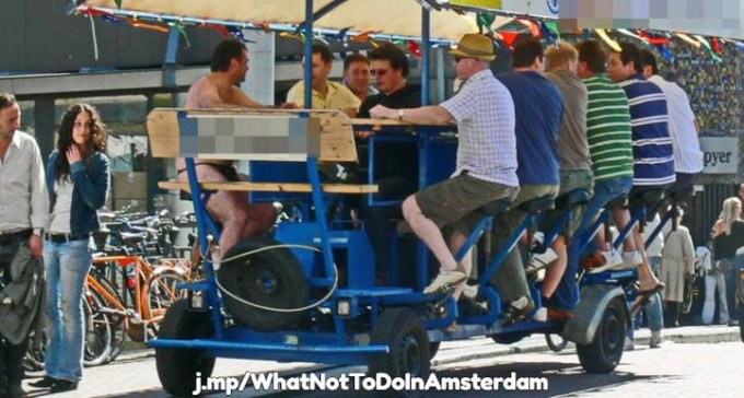 Amsterdam beer bike