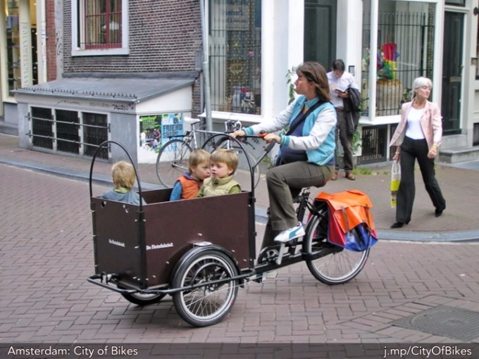 bicycle carrying children