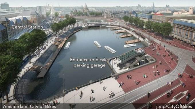 bike parking amsterdam