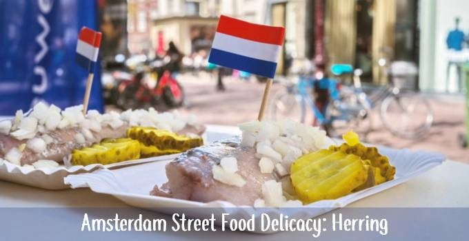 Amsterdam Herring street food