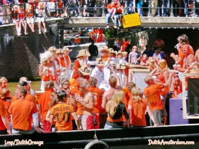 Dutch people wear orange clothes
