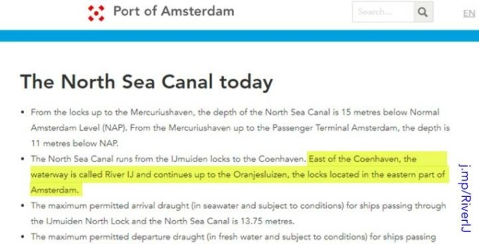 Port authority refers to the river IJ