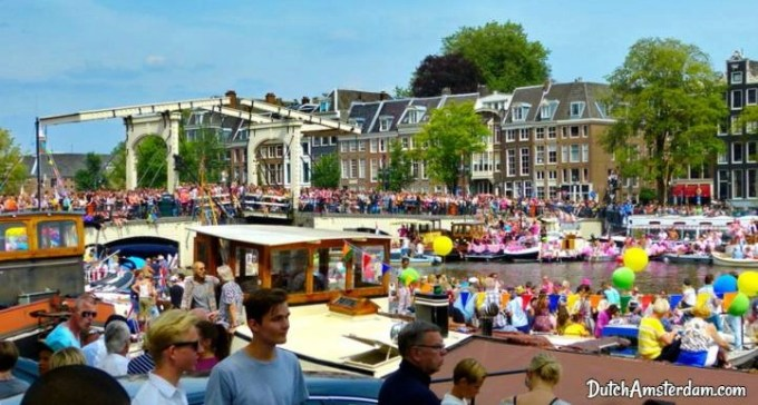 Amsterdam gay pride boat parade