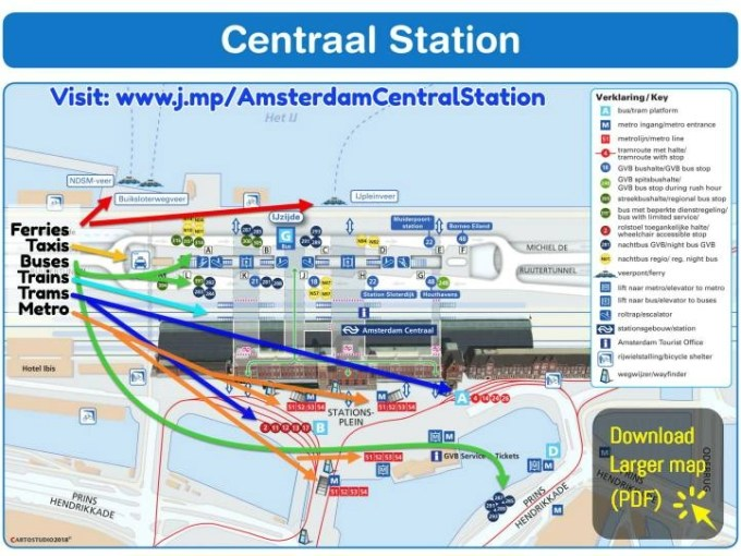 Subway Map Of Amsterdam.Amsterdam Central Station Dutchamsterdam Com