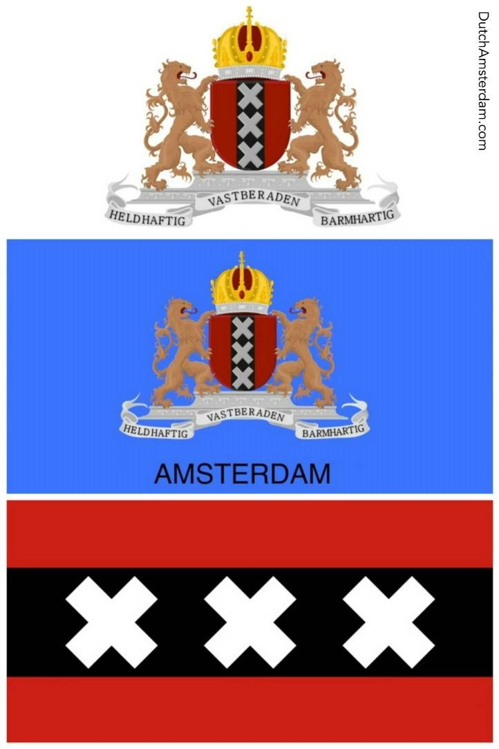amsterdam coat of arms and flag meaning of the 3 x s