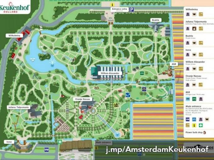 Map of Keukenhof tulip garden