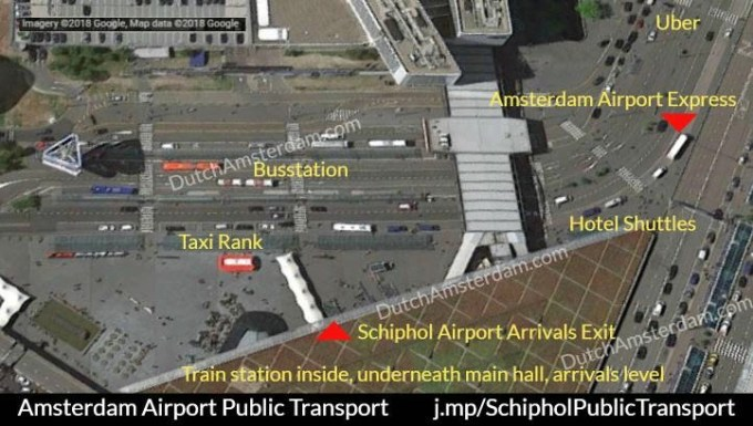 Public Transport To And From Amsterdam Schiphol Airport