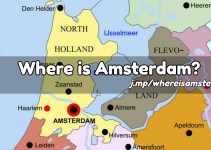 Amsterdam on a map