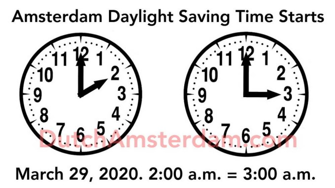 Amsterdam Daylight Saving Time 2020