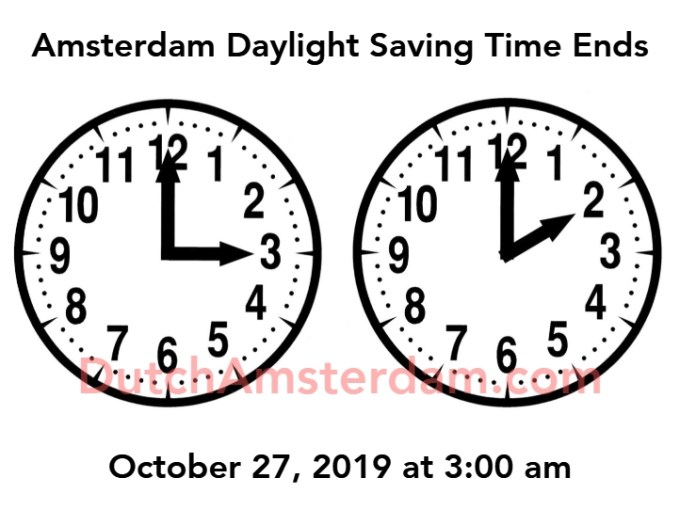 Amsterdam Daylight Saving Time Ends