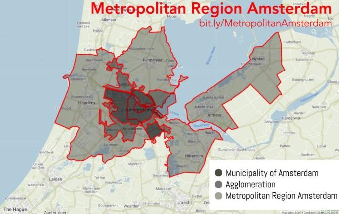 Map of the Metropolitan Region Amsterdam