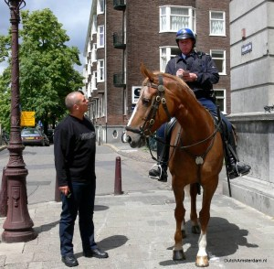 Amsterdam police man on horseback