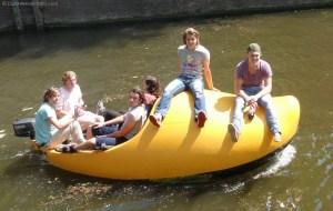 Wooden Shoe Boat in Amsterdam