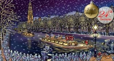 Amsterdam Christmas canal boat parade