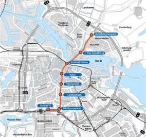 Amsterdam metro North South line
