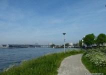 Noordwal along IJ river, Amsterdam