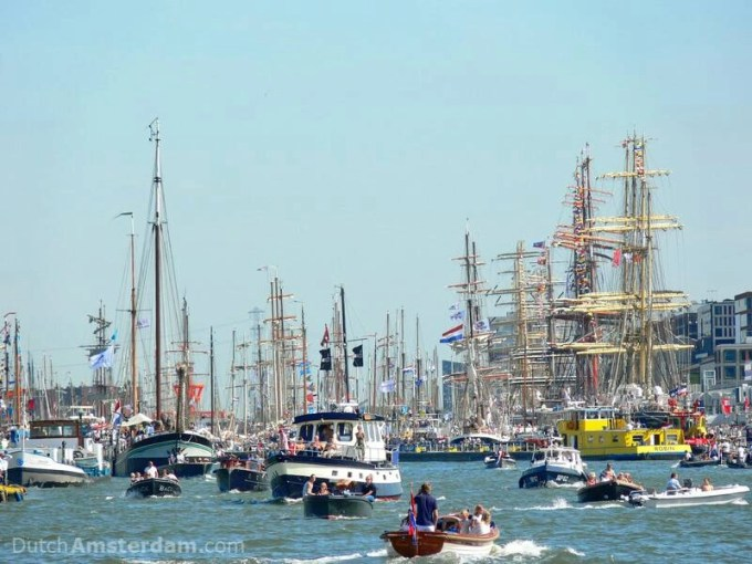 tall ships in Amsterdam
