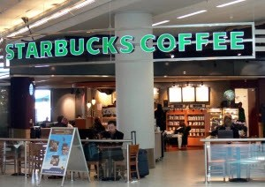 Starbucks at Amsterdam Schiphol Airport