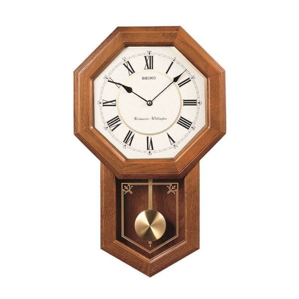 Woodward Pendulum Wall Clock (Light Oak)