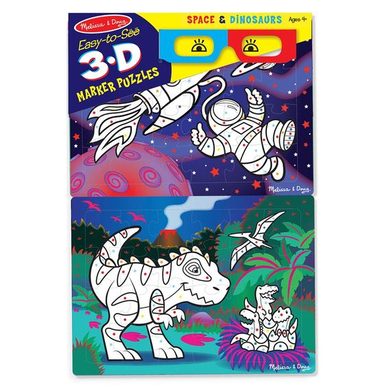 3D Marker Coloring Puzzles - Space & Dinosaurs - Dutch Country ...