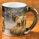 Autumn Mist – Elk Sculpted Coffee Mug