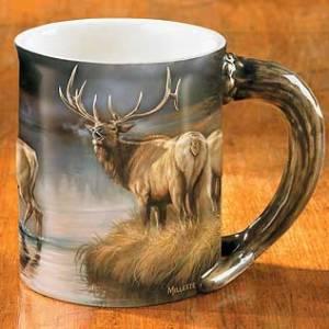 Autumn Mist – Elk Sculpted Coffee Mug