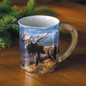 Bull Moose Sculpted Coffee Mug