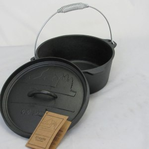 CAST IRON DUTCH OVEN 4QT FLAT BOTTOM WITH FLANGED LID