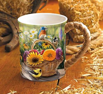 Summer Bouquet – Songbirds Coffee Mug