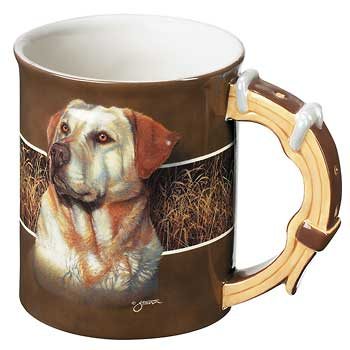 Yellow Lab Dog Sculpted Coffee Mug