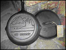cast iron 5qt deep fry skillet with lid 12x3.5