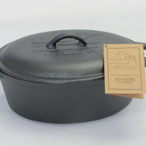 cast iron casserole with lid 10.5x8.5x4