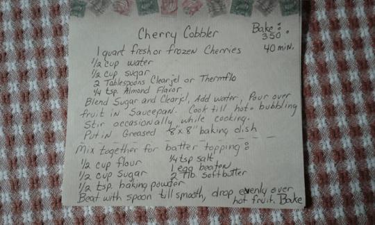 Cherry Cobbler Recipe