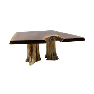 Coffee Table (Double Stump High Gloss Walnut)