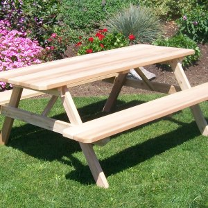 6' Table w/ Attached Benches
