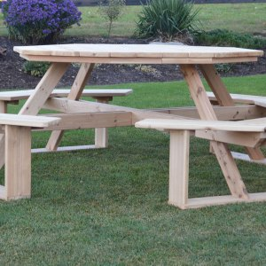 "Outdoor Furniture 54"" Octagon Walk-In Table"