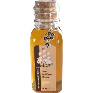 Pure Raw Honey 4 oz Glass Jar With Cork