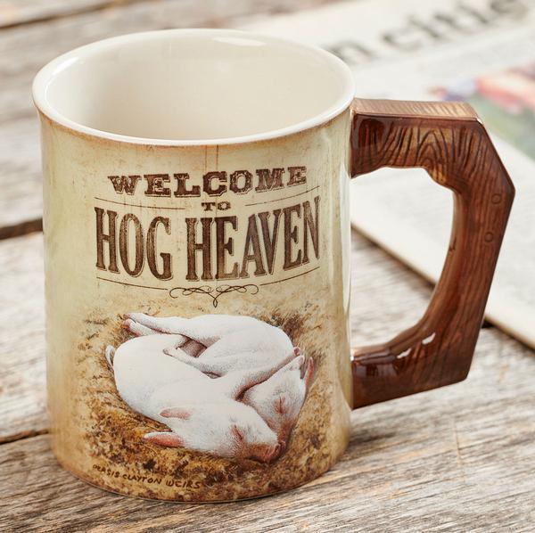 Welcome To Hog Heaven Sculpted Coffee Mug
