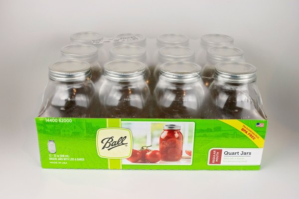 Ball Canning Jars 1 dozen Regular Mouth Quart