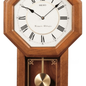Seiko Light Oak Traditional Schoolhouse Wall Clock