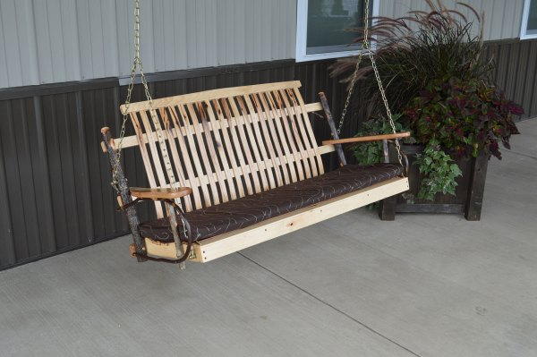 5′ Hickory Porch Swing