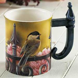 Backyard Beauty – Chickadee Sculpted Coffee Mug