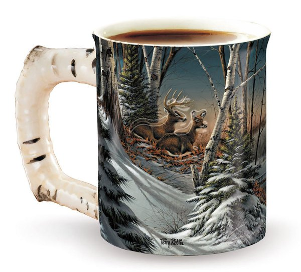 Evening With Friends Sculpted Coffee Mug