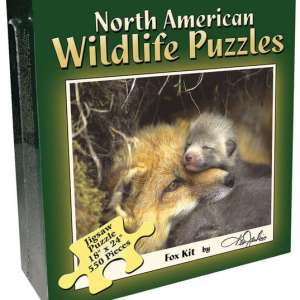 North American Wildlife Jigsaw Puzzle - Fox Pup