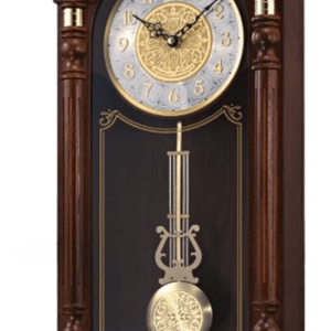 Seiko Stately Solid Oak Case Wall Clock