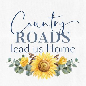 Country Roads Canvas Home Decor